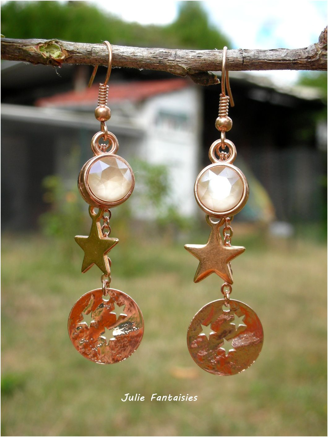 Boucles d'oreille en Or Rose
