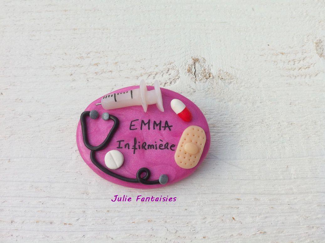 Badge pour Emma, infirmière
