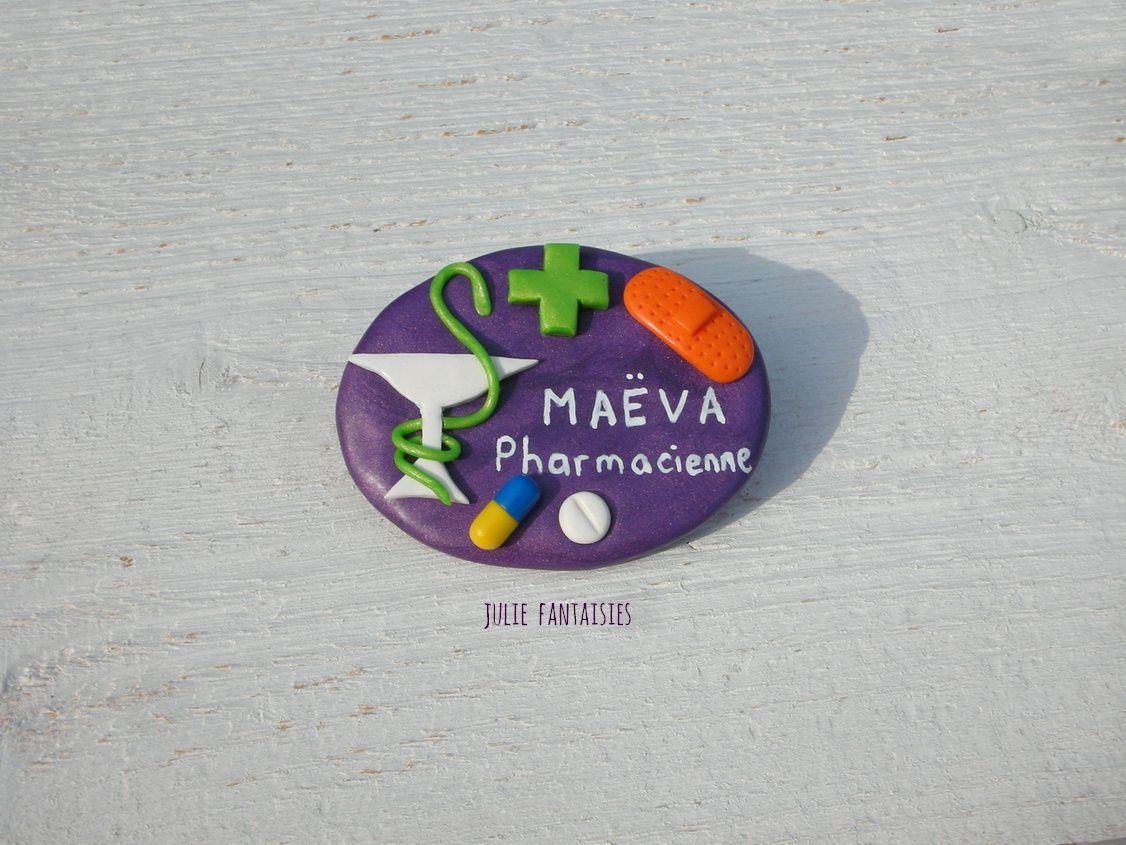 Badge pour Maëva, Pharmacienne