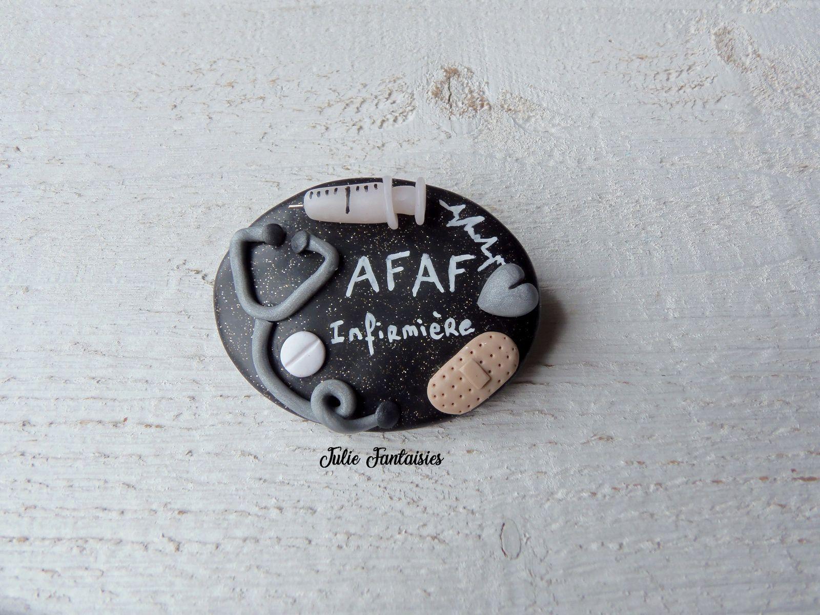 Badge pour Afaf, Infirmière