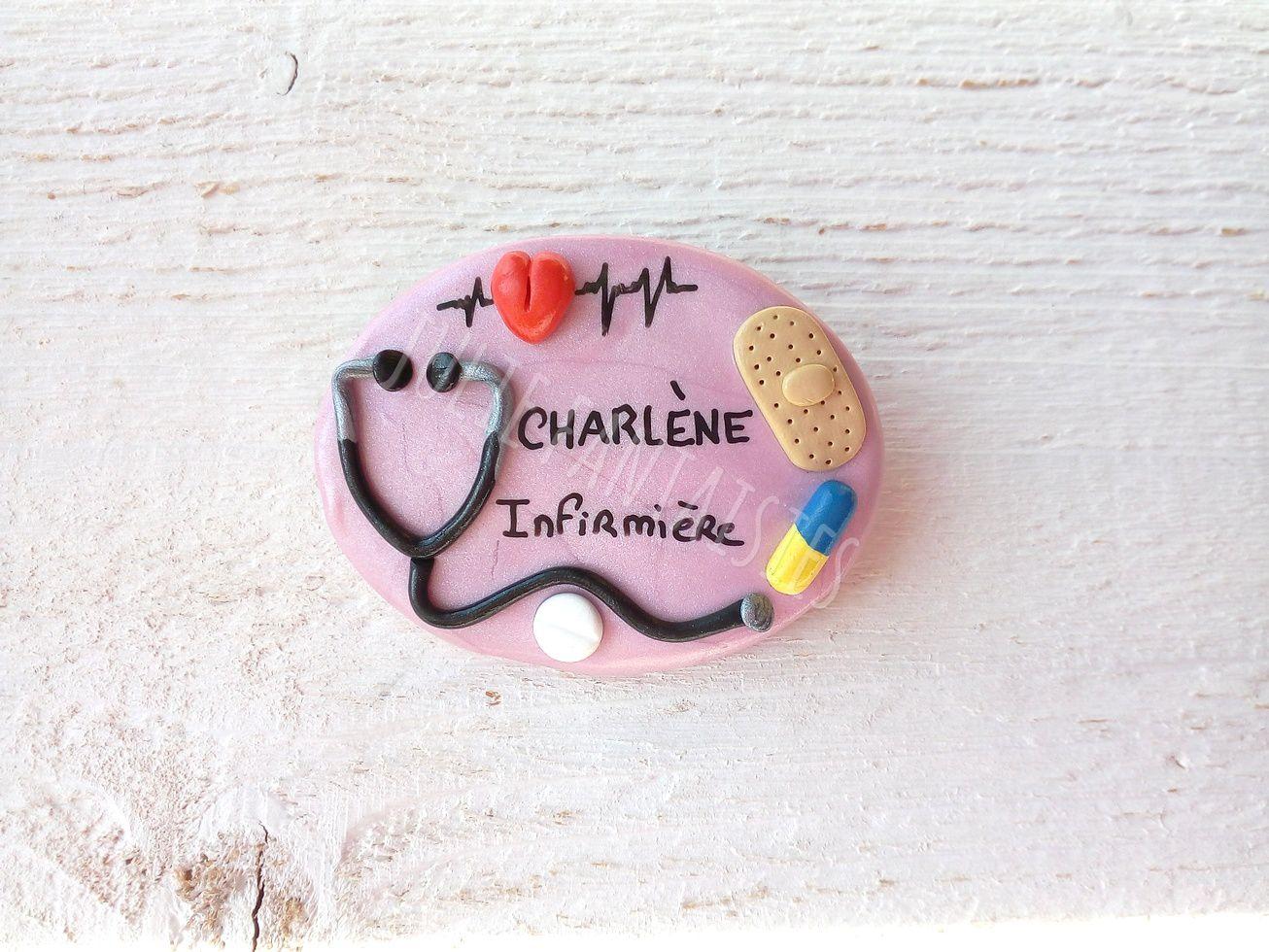 Badge pour Charlène, infirmière