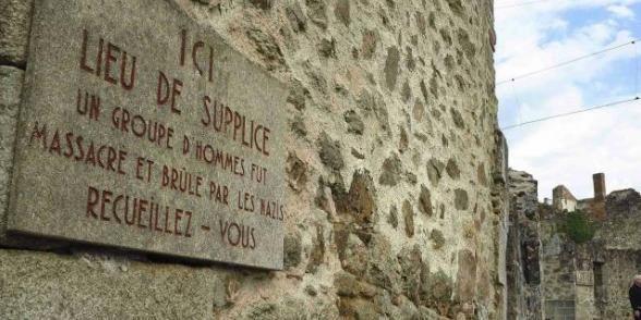 Plaque commémorative d'Oradour sur Glane