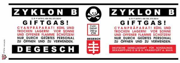 Etiquettes préventives de Zyklon B