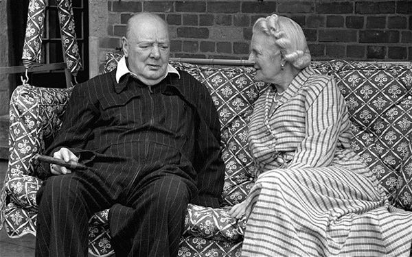 Winston Churchill with his wife Clementine in 1951