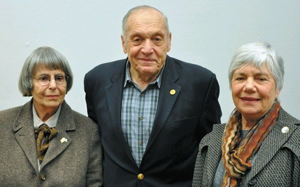 The Home Bittersweet Home panelists, from left, Gerda Bikales, Harry Ettlinger, and Sylvia Cohn.  Photo by Fred Heyman