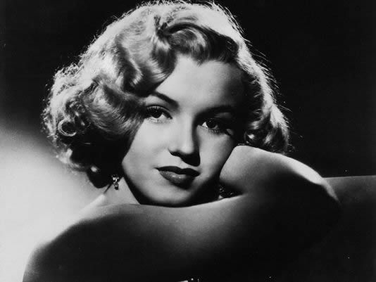 This undated photo shows actress Marilyn Monroe