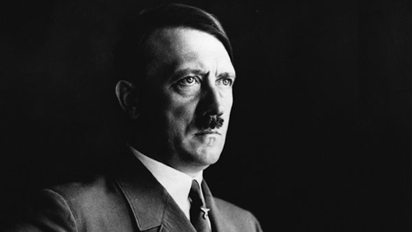 Nazi party leader Adolph Hitler poses for a portrait in this undated photo