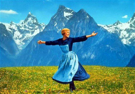 Julie Andrews as Maria in a still from The Sound of Music
