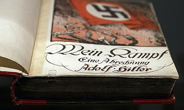 The CSU has had second thoughts about the Bavarian crest appearing in the academic edition of Mein Kampf, reportedly after complaints from Holocaust survivors. Photograph: Andreas Rentz/Getty Images