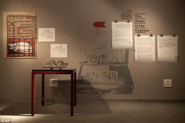Items in the Operation Finale exhibit reveal the story behind the Mossad spy agency's legendary operation