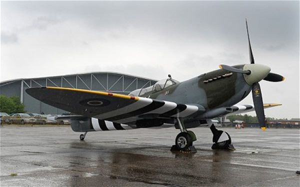 The Grace Spitfire in D-Day Stripes