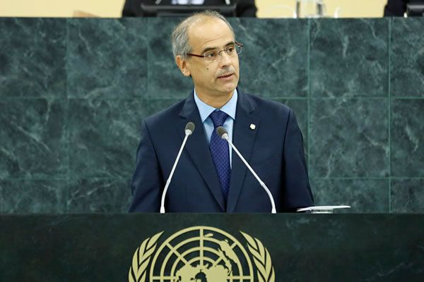 Le chef du gouvernement de l'Andorre, Antoni Marti Petit
