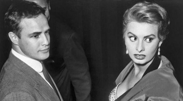 Con el mítico Marlon Brando