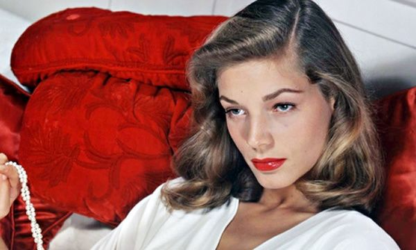 Lauren Bacall's photogenic potential was spotted by Diana Vreeland, fashion editor of Harper's Bazaar.