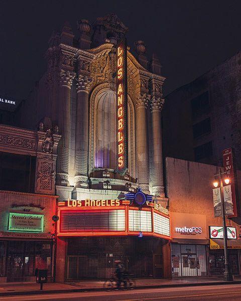 Construite en 1931 dans le quartier des théâtres de Broadway, cette ancienne salle de cinéma aujourd'hui rénovée est louée pour des mariages ou des tournages