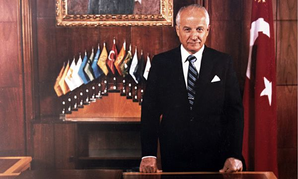Kenan Evren in his presidential office in 1982. Last year he was given a life sentence for crimes against the state and stripped of his ranks, honours and medals