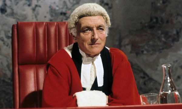 Peter Howell as Mr Justice Lazenby in an episode of the TV series Crown Court in 1983