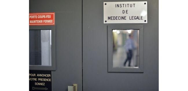 L'entrée de l'institut de médecine légale de Strasbourg, ou ont été retrouvés les restes de déportés gazés sur ordre du médecin nazi August Hirt, le 20 juillet 2015