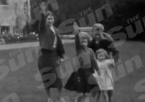 La reine d'Angleterre effectuant un salut nazi à l'âge de 6 ans