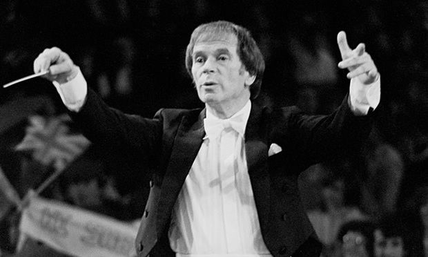 Antony Hopkins conducting at the Royal Albert Hall, London, in 1985. Photograph: Odile Noel/Lebrecht Music & Arts Odile Noel/Lebrecht Music & Arts/Odile Noel/Lebrecht Music & Arts