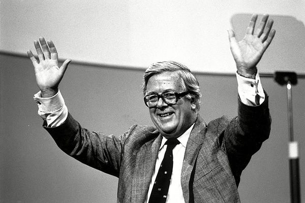 Howe, the Conservative MP for Surrey East, at the Brighton party conference in 1988