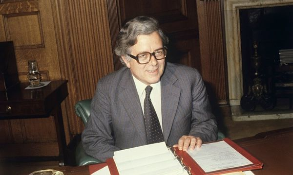 Howe at the Treasury in Whitehall in 1979