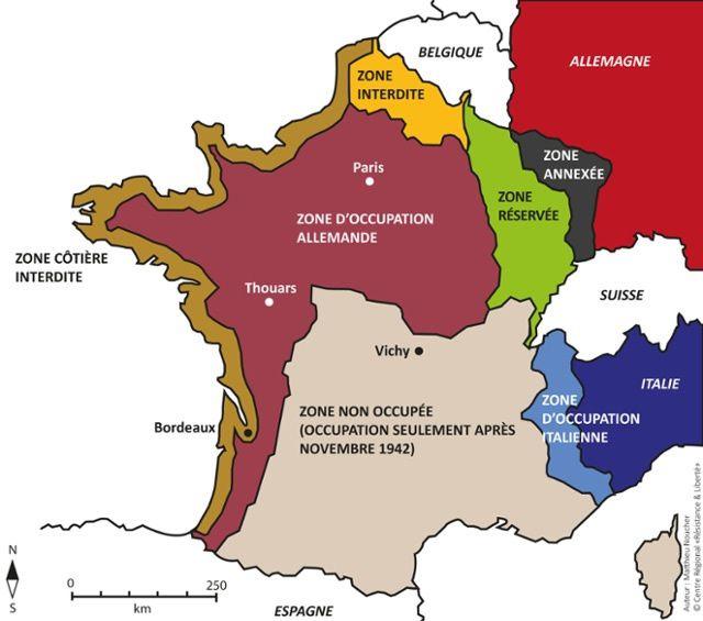 Zone d'occupation italienne en France
