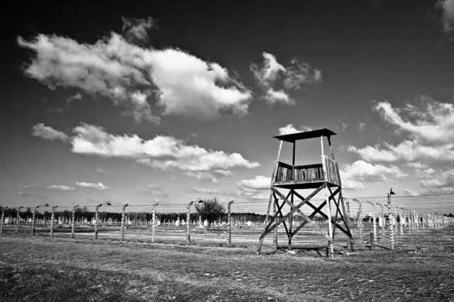 """Watchtower in the concentration camp """"Auschwitz-Birkenau"""""""