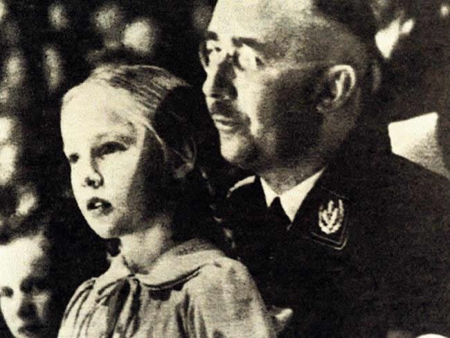 Heinrich Himmler with daughter Gudrun who he nicknamed 'Puppi'