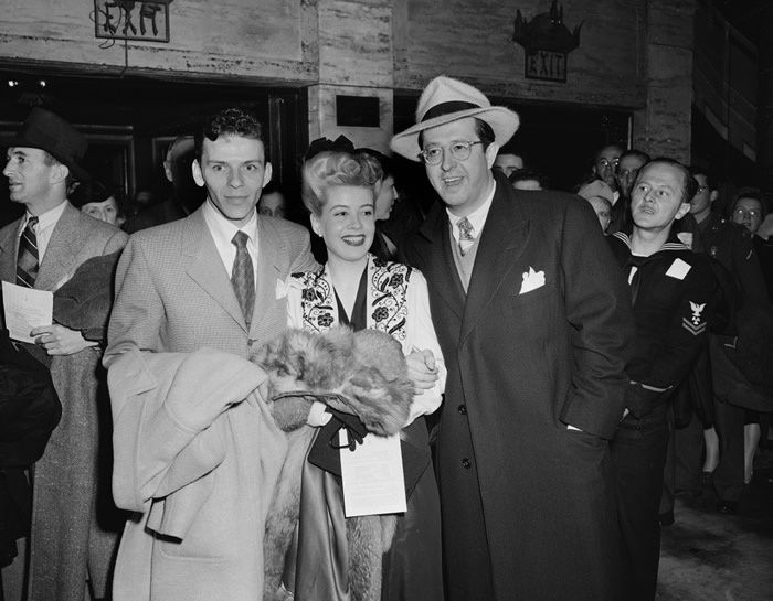 Frank Sinatra, Gloria DeHaven and Phil Silvers in 1944