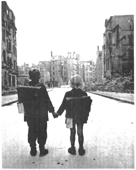 U.S. government policy toward Germany immediately after World War II was determined by hate-crazed Jews, who wanted to crucify future generations of Germans. These two German children — and millions of others — were saved from death by starvation and allowed to begin rebuilding their country only after General Patton's warnings had alerted Gentile leaders in America to the Soviet danger which would be raised by the annihilation of the German people