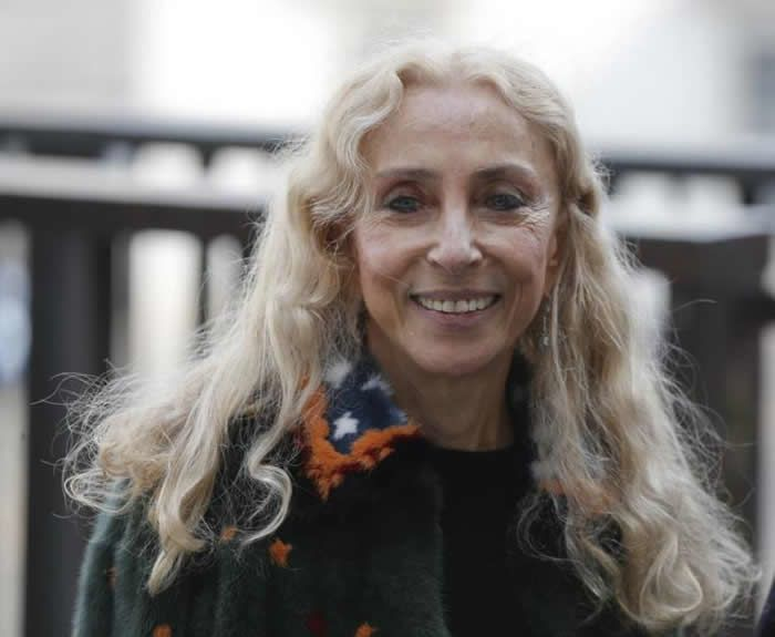 In this photo taken on Wednesday, Feb. 24, 2016, Carla Sozzani arrives to attend a lunch with Italian premier Matteo Renzi at Palazzo Reale, in Milan, Italy. Vogue Italia editor-in-chief Franca Sozzani, who championed Italian fashion the pages of the magazine she ran for 28 years, has died at the age of 66. The on-line version of Vogue Italia remembered Sozzani on Thursday, Dec. 21, 2016 with a simple red heart next to her name. The Italian news agency ANSA said she died after a long illness