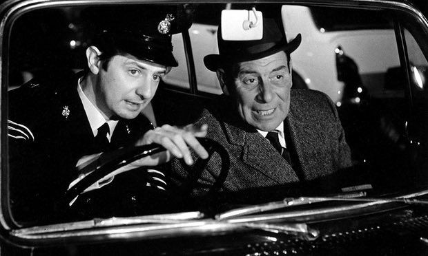 James Ellis, left, and John Slater in Z Cars. For three years, David Rose supervised every detail of the series