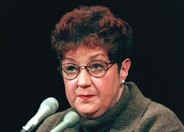 Norma McCorvey, L'Américaine qui fut à l'origine du droit constitutionnel à l'avortement aux Etats-Unis, le 21 janvier 1998 à Washington