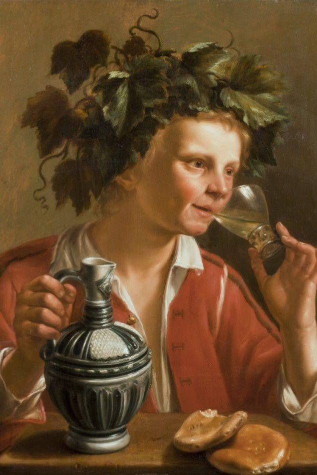Le tableau « Jeune homme en Bacchus », de Jan Franse Verzjil (1599-1647)   Photo : Université Concordia