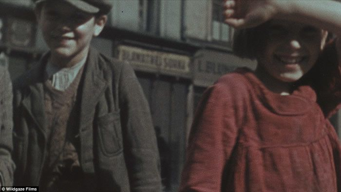Rounded up: Frank and Wächter were in power when the Nazis began to round up the Jews in Poland and put them into the ghettos, like these children captured in Frank's home video from the early 1940s