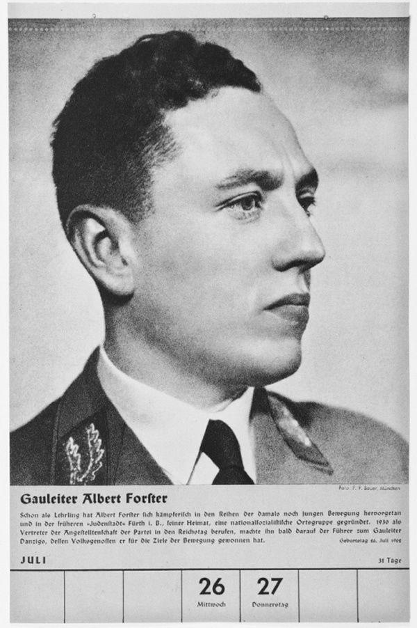 Portrait of Gauleiter Albert Forster