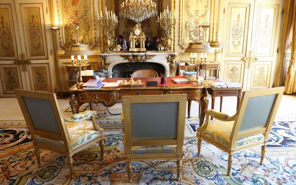 Le salon doré de l'Elysée, traditionnellement utilisé comme bureau par les présidents.François Guillot / AFP