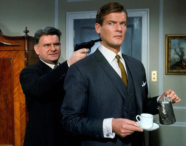 Roger Moore as Simon Templar in a 1967 episode of The Saint. Photograph: Allstar/ITC