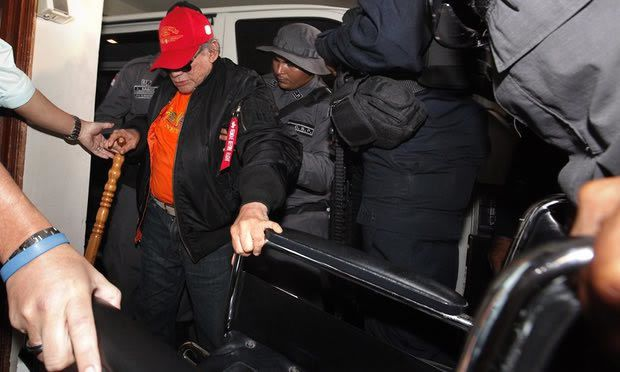 Noriega begins his three-month house arrest at his daughter's house in Panama City on 28 January. Photograph: Alejandro Bolivar/EPA