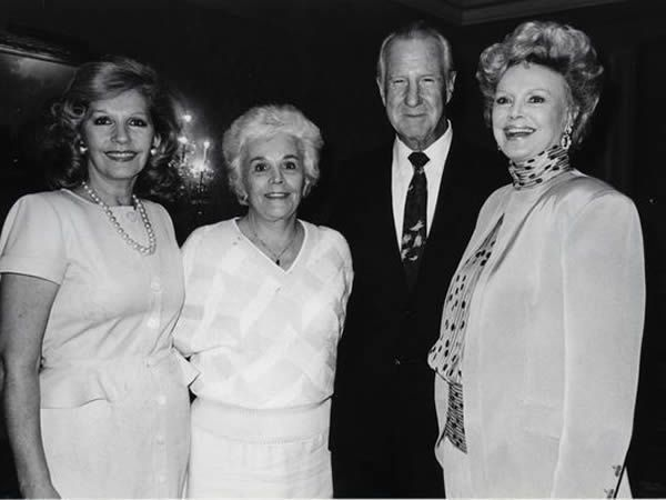 L to R: Mrs. Roger Moore, Judy and former Vice President Spiro Agnew, Barbara Sinatra (Photo: File photo)