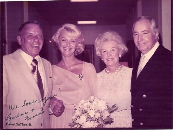 July 1976: At Walter's suggestion, neighbors Frank and Barbara Sinatra are married at Sunnylands (Photo: Provided by the Annenberg Retreat at Sunnylands)