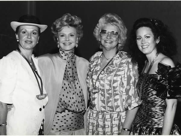 L to R: Mrs. Mary Anne Wallentine, Barbara Sinatra, Mrs. Melody Dolan, Karen Franich Lurkman (Photo: File photo)