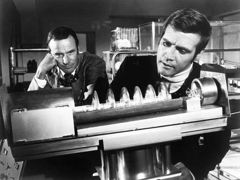 """Richard Anderson, left, and Lee Majors in an episode of """"The Six Million Dollar Man."""" ABC"""