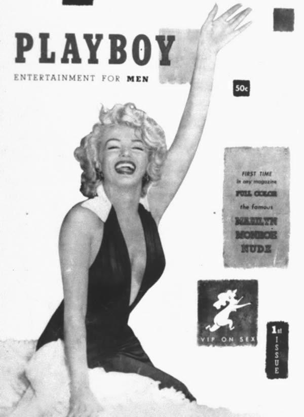 La première couverture de Playboy avec Marilyn Monroe.  Playboy