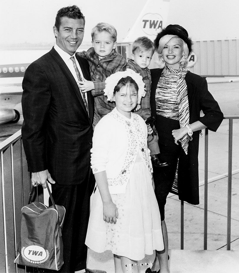 With husband Mickey Hargitay, daughter Jayne Marie Mansfied, and sons Mickey, Jr. and Zoltan Hargitay, 1962. -  Courtesy of the Tony Mansfield Collection