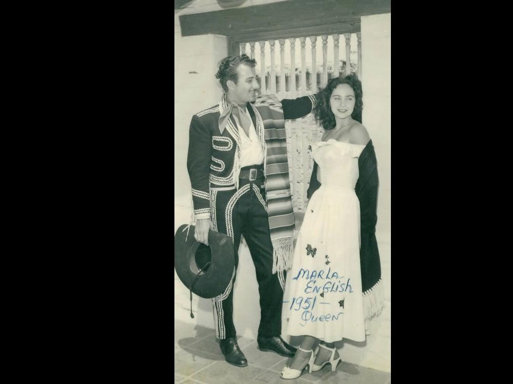 Marla English, with Don Diego, was crowned Fairest of the Fair in 1951. Both were ambassadors for the run of the fair. Courtesy photo