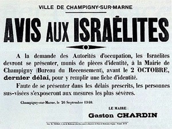 Mass-arrests of Jews in Marseilles ; Churches of All Faiths Hide Jews from Nazis