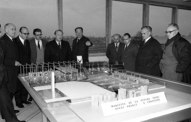 En 1972, le siège de Ouest-France quitte l'immeuble historique du centre de Rennes pour rejoindre Chantepie.   Archives Ouest-France