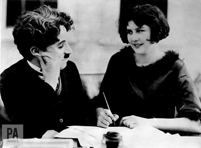 Charlie Chaplin and Lita Grey, who he reportedly married after getting her pregnant before she was 16. PA/PA Archive/PA Images